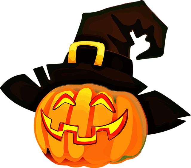 jack o lantern with mustache