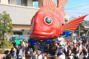 5番曳山 魚屋町の鯛
